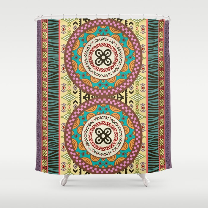 Afrocentric Fusion III Shower Curtain