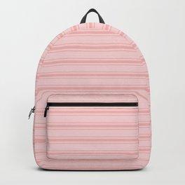 Wide Soft Blush Pink Mattress Ticking Stripes Backpack