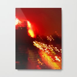 Brooklyn Lights, Fireworks, BedStuy, 4th of July Metal Print