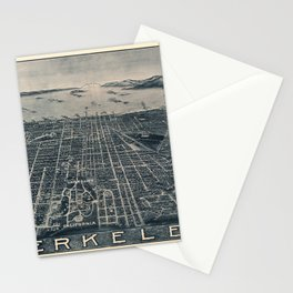 Map Of Berkeley 1909 Stationery Cards