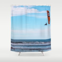 Flying Man Shower Curtain