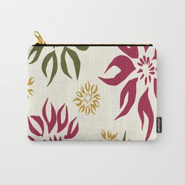 Flaming Poinsettias Carry-All Pouch