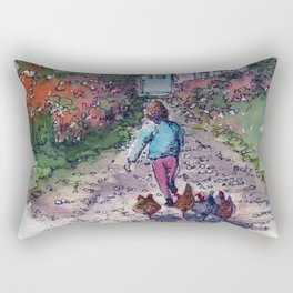 Spring Chickens in the Country Rectangular Pillow