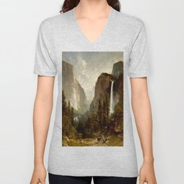 Bridal Veil Falls, Yosemite Valley 1892 Unisex V-Neck