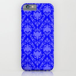 Cobalt Damask iPhone Case
