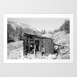 Silver Plume Mountain Art Print