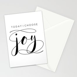 Today I Choose Joy wood sign, farmhouse decor, rustic, vintage, Bible verse, home and living Stationery Cards