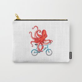 Cycling octopus Carry-All Pouch