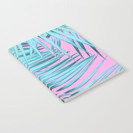 Palm Leaves Pink Blue Vibes #1 #tropical #decor #art #society6 Notebook