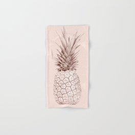 Pink Gold Pineapple Hand & Bath Towel