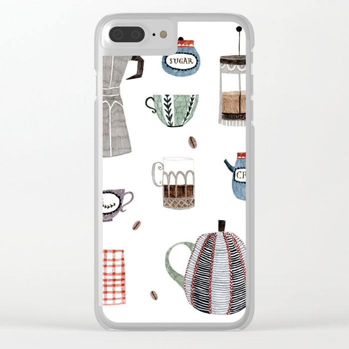 Coffee and Tea Clear iPhone Case