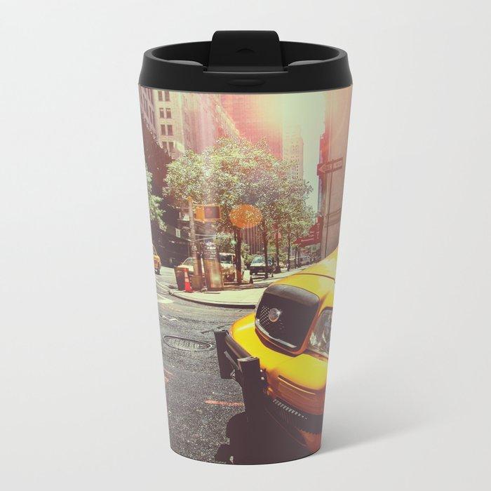 NYC Taxi Cab Metal Travel Mug