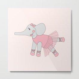 illusima Ballerina Elephant Metal Print