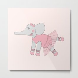 illusima Ballerina Elephant Metal Print