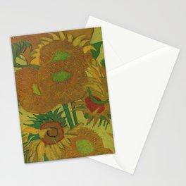 Van Gogh, sunflowers 2 – Van Gogh,Vincent Van Gogh,impressionist,post-impressionism,brushwork,paint Stationery Cards