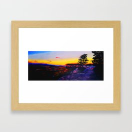 Billings, MT at Sunset Framed Art Print