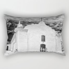 Church Black and White Rectangular Pillow