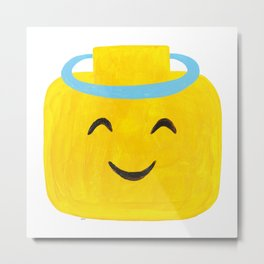 Emoji Minifigure Angel Devil Metal Print
