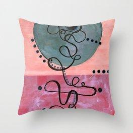 Setting Sun in pink Throw Pillow