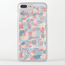 San Francisco modern map Clear iPhone Case