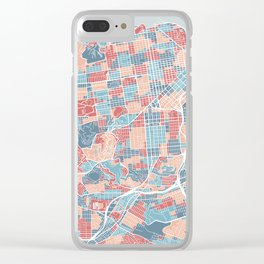 San Francisco modern map Clear iPhone Case