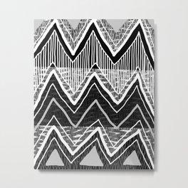 Sunchoke #5 // Black + White Version Metal Print
