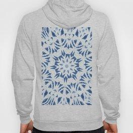 Snowflake Denim & White Hoody