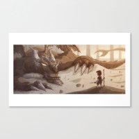 smaug Canvas Prints featuring Smaug by Otis Frampton