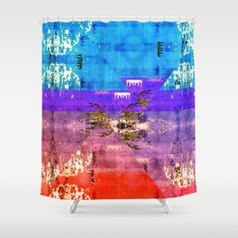Colorful Southwestern Inspired Pattern Design Shower Curtain