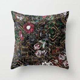 GATSBY and FLORAL pattern Throw Pillow