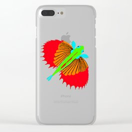 The Spectacular Flying Fish Clear iPhone Case