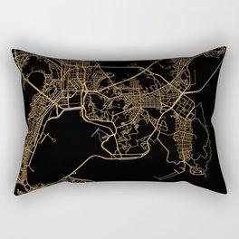 Black and gold Busan map Rectangular Pillow