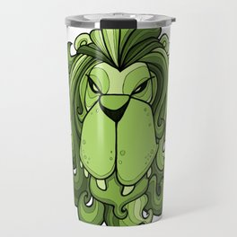 Lion - Greenery Green Travel Mug