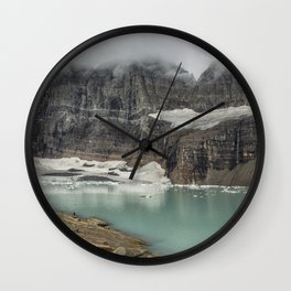 Grinnell and Salamander Glaciers, Soon Things of the Past Wall Clock