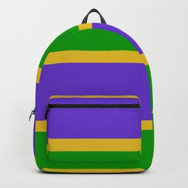 Mardi Gras Stripes Backpack