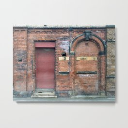 Closed Doors - Leeds Metal Print