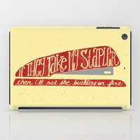 the office iPad Cases featuring Office Space by Drew Wallace