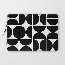 Mid Century Modern Geometric 04 Black Laptop Sleeve