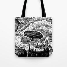 Steampunk Skyline Tote Bag