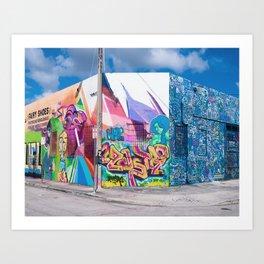 Tattooed Walls form Wynwood Miami Graffiti No. 3 Kunstdrucke