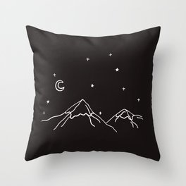 the night Throw Pillow