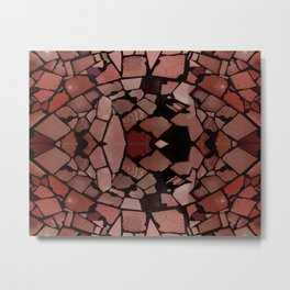 Mosaic - Red Ruby Metal Print