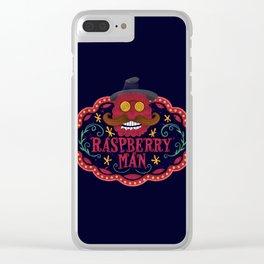Smile man. Raspberry man Clear iPhone Case
