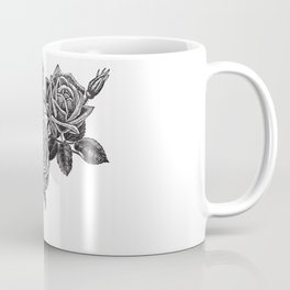 Engraved Roses Illustration Coffee Mug