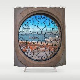 Lisbonne vue d'en haut Shower Curtain