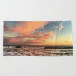 Cotton Candy Sunset Beach Towel