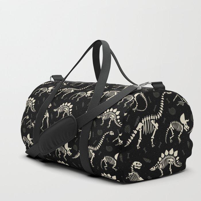 Dinosaur Fossils on Black Sporttaschen