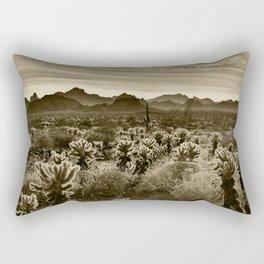 Teddy Bear Cactus Rectangular Pillow