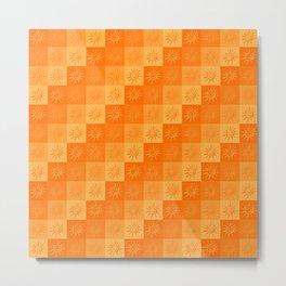 Warm Sunshine Orange Palette Pattern Metal Print