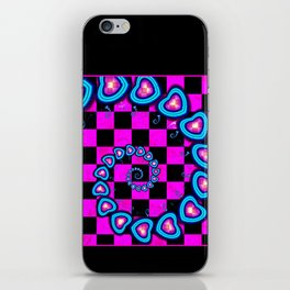 Hearts for Peggy Sue iPhone Skin